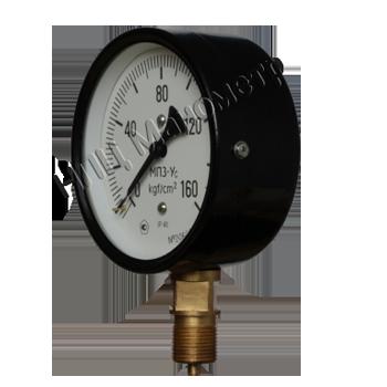 Манометр избыточного давления показывающий МП3-Уc предназначен для измерения избыточного давления неагрессивных, некристаллизующихся жидкостей, пара и газа, в том числе кислорода, ацетилена.