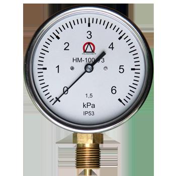 Напоромер НМ-100 , Тягомер ТМ-100, Тягонапоромер ТНМ-100 для измерения малых избыточных, вакууметрических и мановакууметрических давлений воздуха и различных неагрессивных  газов.