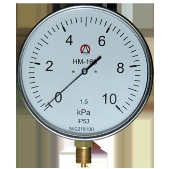 Напоромер НМ-160, Тягомер ТМ-160, Тягонапоромер ТНМ-160 для измерения малых избыточных, вакууметрических и мановакууметрических давлений воздуха и различных неагрессивных газов.