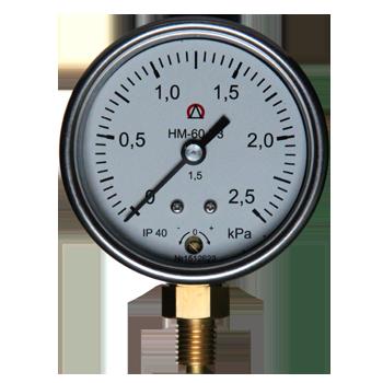 Напоромер НМ-60, Тягомер ТМ-60, Тягонапоромер ТНМ-60  для измерения малых избыточных, вакууметрических и мановакууметрических  давлений воздуха и различных неагрессивных газов.