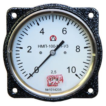 Напоромер мембранный показывающий НМП-100-М1 Тягомер ТмМП-100, Тягонапоромер ТНМП-100 для измерения малых избыточных, вакууметрических и мановакууметрических давлений (напора) воздуха и неагрессивных газов.